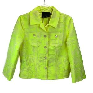 Carlisle neon light weight blazer 3/4 sleeves US 8